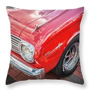 1963 Ford Falcon Sprint Convertible  Throw Pillow by Rich Franco