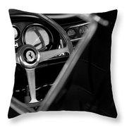 1967 Ferrari 275 Gtb 4 Steering Wheel Emblem Throw Pillow by Jill Reger