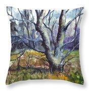 A Tree For Thee Throw Pillow by Carol Wisniewski