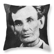 Abraham Lincoln Throw Pillow by Anonymous