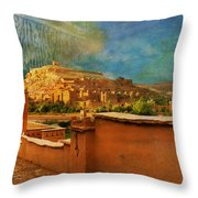 Ait Benhaddou  Throw Pillow by Catf