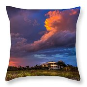 Beach Front Rain Throw Pillow by Marvin Spates