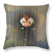 Behind The Veil Throw Pillow by Kylie Sabra
