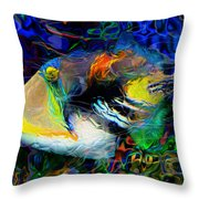 Below The Surface 4 Throw Pillow by Jack Zulli