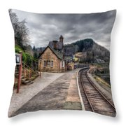 Berwyn Railway Station Throw Pillow by Adrian Evans