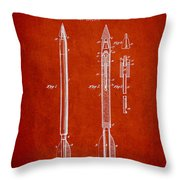 Bomb Lance Patent Drawing From 1885 Throw Pillow by Aged Pixel