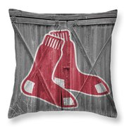 Boston Red Sox Throw Pillow by Joe Hamilton