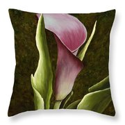 Calla Lily Throw Pillow by Mary Ann King