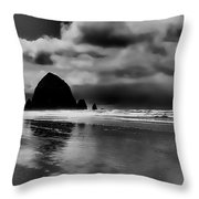 Cannon Beach - Oregon Throw Pillow by David Patterson