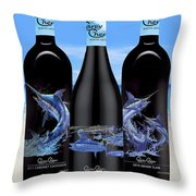 Carey Chen Fine Art Wines Throw Pillow by Carey Chen