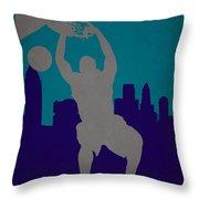 Charlotte Hornets Throw Pillow by Joe Hamilton