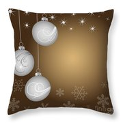 Christmas background Throw Pillow by Michal Boubin