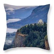 Crown Point Throw Pillow by Brian Jannsen