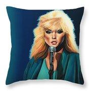 Deborah Harry Or Blondie Throw Pillow by Paul Meijering