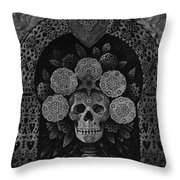 Dia De Muertos Madonna Throw Pillow by Ricardo Chavez-Mendez