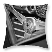 Ferrari Steering Wheel Throw Pillow by Jill Reger