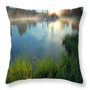 First Light Throw Pillow by Mike  Dawson