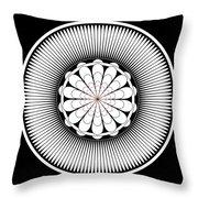 Floral Ornament Throw Pillow by Frank Tschakert