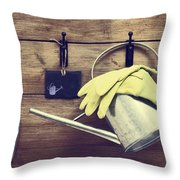 Garden Shed Throw Pillow by Amanda Elwell
