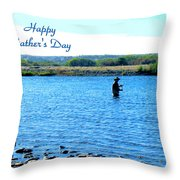 Gone Fishing Throw Pillow by Joyce Dickens
