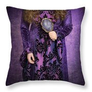 Gothic Woman Throw Pillow by Amanda And Christopher Elwell