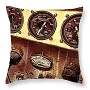 Grunge Gauges  Throw Pillow by Olivier Le Queinec