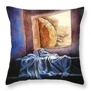 He Is Risen Throw Pillow by Susan Jenkins