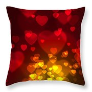 Hearts Background Throw Pillow by Carlos Caetano