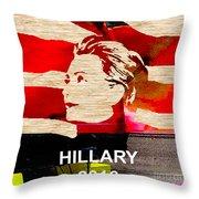 Hillary Clinton 2016 Throw Pillow by Marvin Blaine