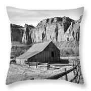 Horse Barn In Fruita Utah Throw Pillow by Jack Schultz