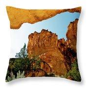 Juniper Gulch Oregon Throw Pillow by Ed  Riche