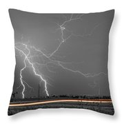 Lightning Thunderstorm Dragon Throw Pillow by James BO  Insogna