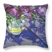 Lilacs Throw Pillow by Gloria  Nilsson