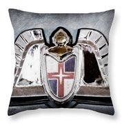 Lincoln Emblem Throw Pillow by Jill Reger