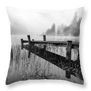 Loch Ard Early Mist Throw Pillow by John Farnan