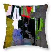 Los Angeles Map Watercolor Throw Pillow by Marvin Blaine