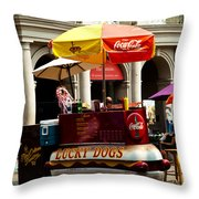 Lucky Dogs Throw Pillow by Susie Hoffpauir