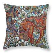 Market Nature Throw Pillow by Erika Pochybova