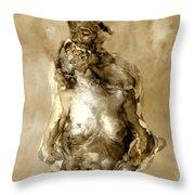 Melt Throw Pillow by Kurt Van Wagner