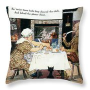Mother Goose, 1915 Throw Pillow by Granger