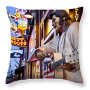 Music City USA Throw Pillow by Brian Jannsen