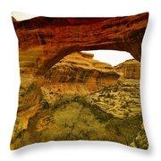Natural Bridge Throw Pillow by Jeff Swan