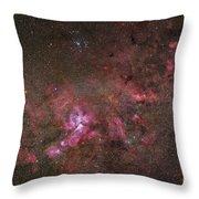 Ngc 3372, The Eta Carinae Nebula Throw Pillow by Robert Gendler