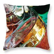 Oil and Water 28 Throw Pillow by Sarah Loft