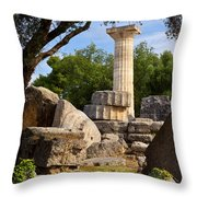 Olympia Ruins Throw Pillow by Brian Jannsen