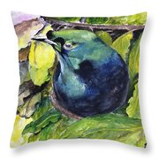 Paradise Bird Throw Pillow by Jason Sentuf