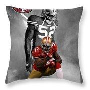 Patrick Willis 49ers Throw Pillow by Joe Hamilton