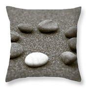 Pebbles Throw Pillow by Frank Tschakert