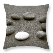 Pebbles Throw Pillow by Frank Tschakert