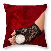 Pocket Watch Throw Pillow by Amanda Elwell